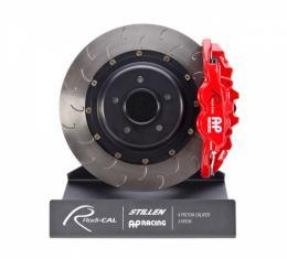 Corvette Stingray AP Racing Radi-CAL Rear Brake Kit, 4-Piston Caliper & J-Hook Rotors, 2014-2017