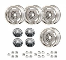 Chevelle - Rally Wheel Kit, 1-Piece Cast Aluminum With Tall Derby Caps,  17x8