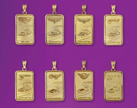 Corvette Gold Ingot Pendant, 1997-2013 Designs