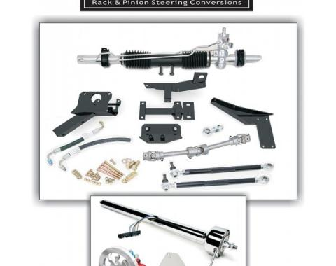 Corvette Rack & Pinion Conversion Kit, Steeroids, With Manual Steering, Unpainted Column, 1953-1957