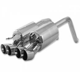 Corvette Exhaust System, B&B, Route 66, With Round Tips, 2005-2008