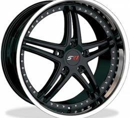 "Corvette Wheel Package, Black Center With Polished Lip, Bullet Series, 18"" Front, 19"" Rear, 1997-2013"