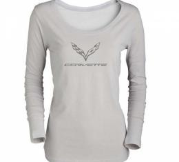 Ladies Corvette C7 Logo Long Sleeve T-Shirt