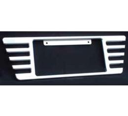 Corvette Rear License Plate Frame, Billet Aluminum, Polished, 2005-2013