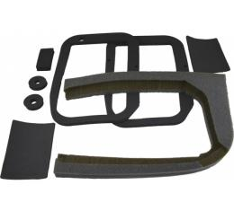 Corvette Heater Box Gasket Kit, without Air Conditioning, 1963-1967