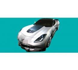 Phoenix Graphix Stinger Hood Decal, Carbon Flash| 376100 Corvette 2014-2016