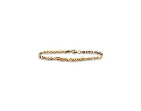 """C5 Corvette Word Gold Bracelet 14Kt 7.5"""""""