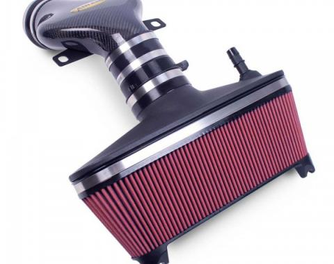Corvette AIRAID® Cold Air Dam Intake System With Red SynthaMax Filter And Carbon Fiber Tube, 2001-2004