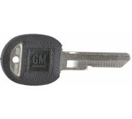 Corvette Door Key, Oval, Covered, 1968, 1972, 1976, 1980 & 1987-1990