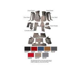 Auto Custom Carpet, Carpet Set, Mass Back, Cut-Pile, ACC| Corvette Convertible 1990-1993