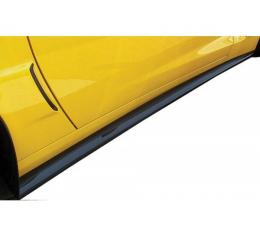 Corvette Side Skirts, ZR1/Z06 & Grand Sport, Carbon Fiber Look, 2006-2013