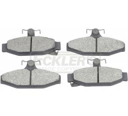 Corvette Brake Pads, Rear, Metallic, 1984-1987