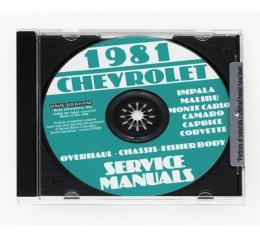 Corvette Service Manual On CD, 1981