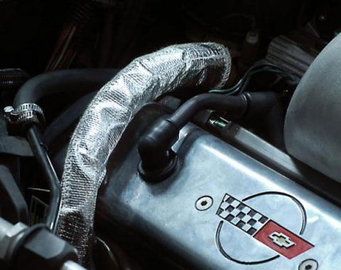 Corvette EGR Pipe Cover, Small Size, Hook & Loop Closure, 1987-1991