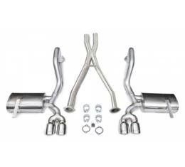 "Corvette Exhaust System, With 3.5"" Quad Tips & X-Pipe, Pro-Series, Extreme, CORSA, 1997-2004"