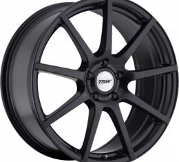 Corvette Wheel, Interlagos, 18x9'', Matte Black, One Piece Wheel, 1984-2017