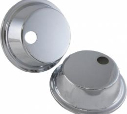 Corvette Headlight Actuator Covers, Chrome, 1968-1982