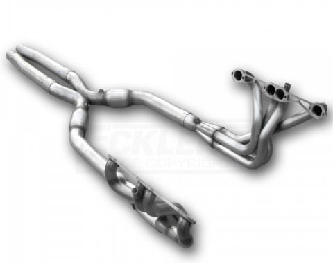 Corvette American Racing Headers 1-3/4 inch x 3 inch Full Length Headers With 3 inch X-Pipe & Cats, Off Road Use Only, 1984-1996