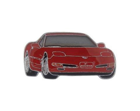Corvette Red C5 Coupe Lapel Pin