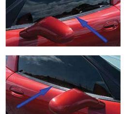 Corvette Coupe Door Window Seal, Outer, Upper, 1997-2004