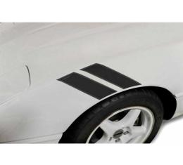 Corvette Fender Accent Stripes, Black With Grand Sport Emblem, 1984-1996