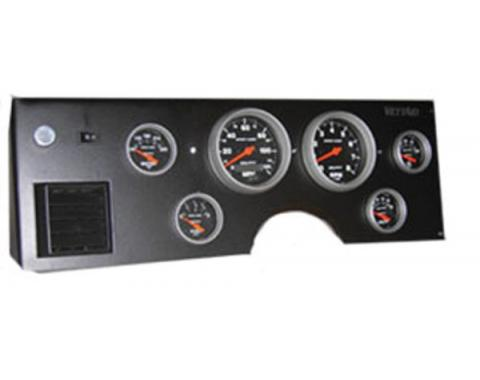 Corvette Gauge Cluster,Electronic Analog,6 Gauge,Black FaceAutometer,1984-1989