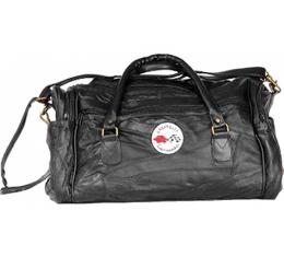 Corvette Leather Road Trip Bag With C1 Embroidered Emblem