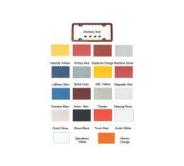 Corvette License Plate Frames, Altec, Painted Body Color