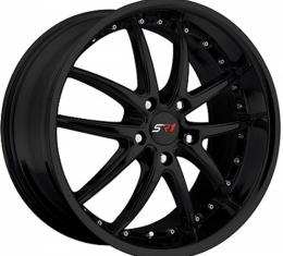 "Corvette Wheel Package, Gloss Black, Apex Series, 18"" Front, 19"" Rear, 1997-2013"
