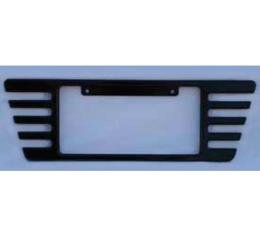 Corvette Rear License Plate Frame, Billet Aluminum, Black Powder Coated, 2005-2013