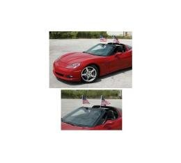 Corvette Windshield Mount Flag Caddies, Coupe, 2005-2017