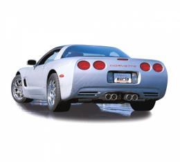 Borla Exhaust System, Sport S-Type Series, With Quad Round Tips| 140038 Corvette 1997-2004