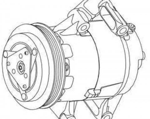 Corvette Air Conditioning Compressor, Z06, 2006-2013