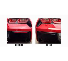 2014-2017 (C7) Corvette Lower Rear Bumper Reflector Blackout Vinyl Covers