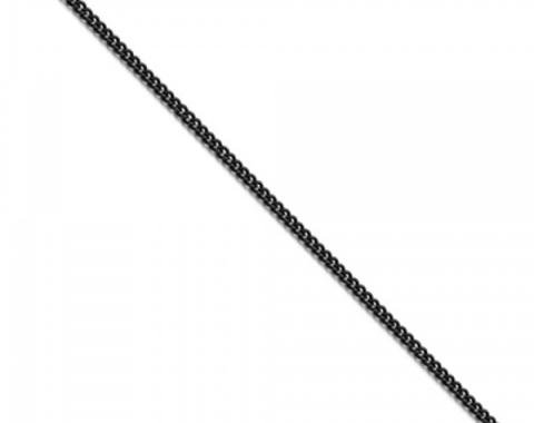 "Corvette Round Curb Chain, !8"" or 22"" Long, Black Stainless"