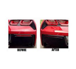 Corvette Lower Rear Bumper Reflector Blackout Acrylic Covers, 2014-2017