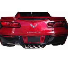 Corvette Painted Body Color Rear Louvered Style License Plate Frame Kit, 2014-2017