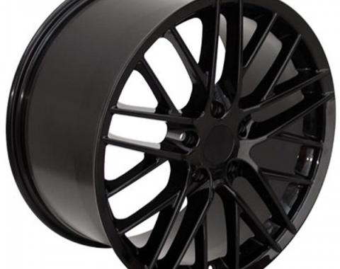 Corvette 19 X 10 C6 ZR1 Reproduction Wheel, Black, 1988-2013
