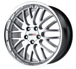 Corvette Cray Manta 20x10.5 Hyper Silver With Mirror Cut Lip, 1-Piece Wheel, 1997-2013