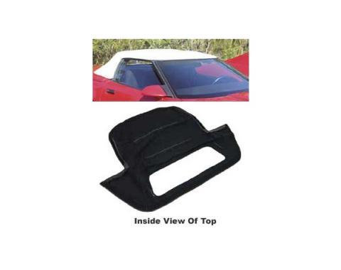 Corvette Convertible Top, Black Vinyl Replacement, 1986-1996