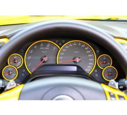 Corvette Instrument Gauge Bezels, Painted To Match, 2005-2013