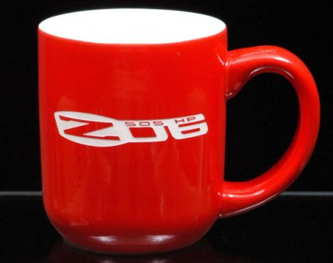 Corvette 16 Ounce Coffee Mug, Vegas, Red/White, 1953-2013