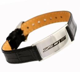 Corvette C7 Z06 Leather Adjustable Bracelet, Small
