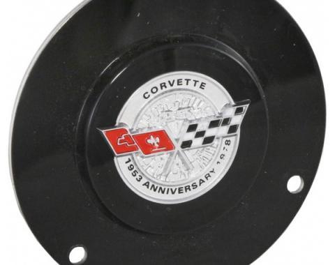 Corvette Horn Button Emblem, With Tilt/Telescopic Column, 1978