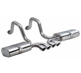 Corvette Exhaust System, CORSA, Indy With Tiger Shark Tips,1997-2004