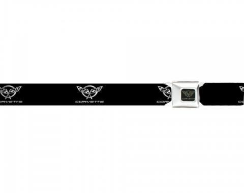 Corvette Seat Belt Belts, C5 Logo