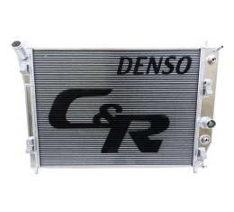 Corvette C&R Racing OE Fit Radiator, High Performance / Race Track, 48mm Denso, With Oil Cooler, 2005-2013