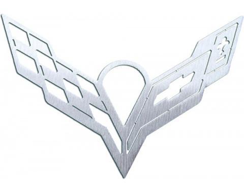 Corvette Christmas Ornament, With C7 Crossed Flag-Logo