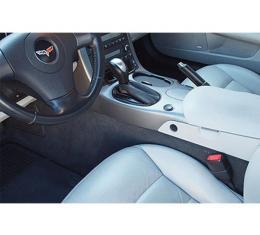 Corvette Carpet Set, Truvette, Front, Convertible, With Riser And Truvette Mass Back, 2005-2013