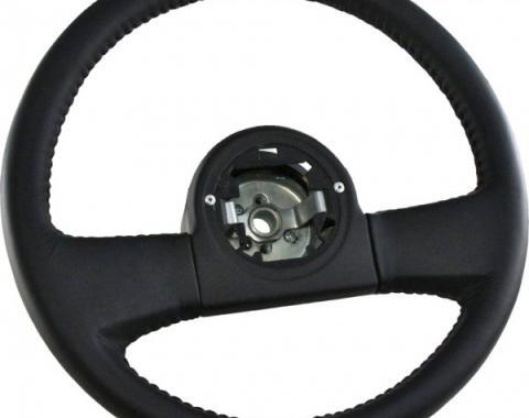 Corvette Steering Wheel, Black New Reproduction, 1984-1989